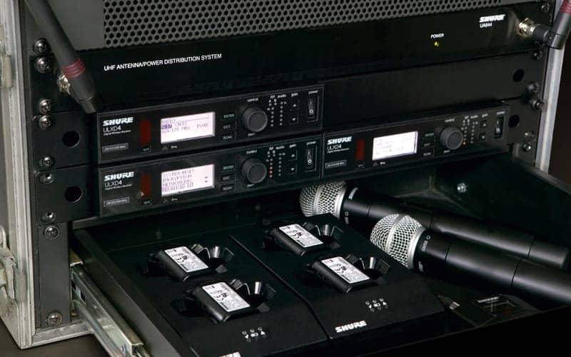 Matériel sonorisation micros H.F. Shure